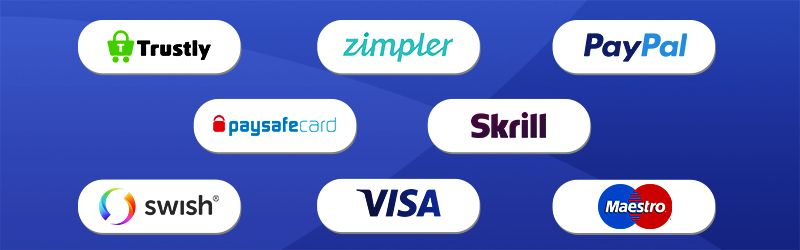 Betalningsmetoder hos casinon utan registrering