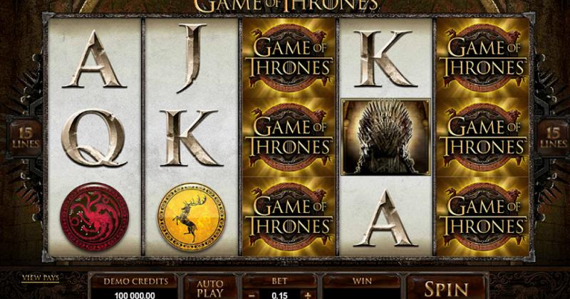 Spela på Game of Thrones 15 linjers online slot från Microgaming spelautomat gratis nu   Casino Sverige