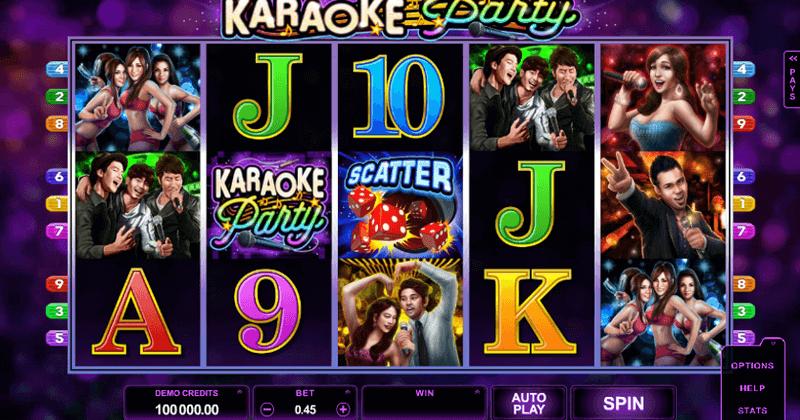 Spela på Karaoke Party Online slot från Microgaming spelautomat gratis nu | Casino Sverige