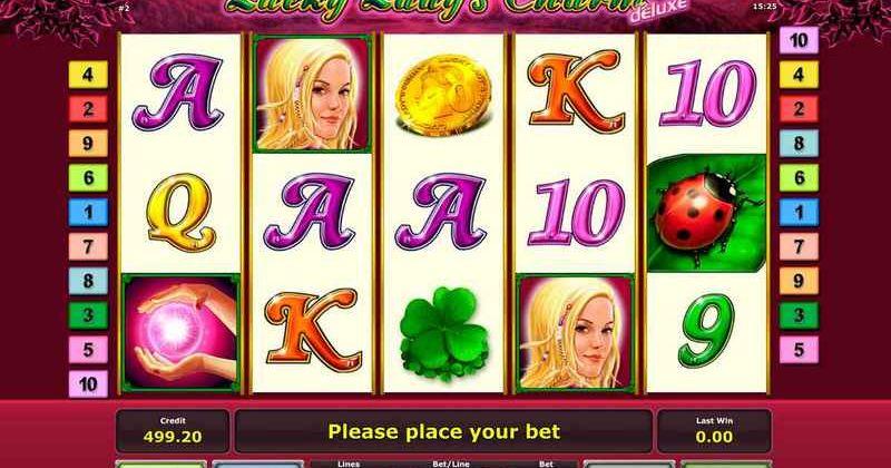 Spela på Lucky Ladys Charm online slot från Novomatic spelautomat gratis nu   Casino Sverige