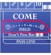 Field bet - online craps