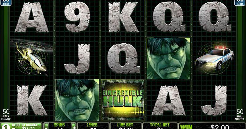 Spela på Recension av slotspelet Incredible Hulk från Playtech spelautomat gratis nu | Casino Sverige