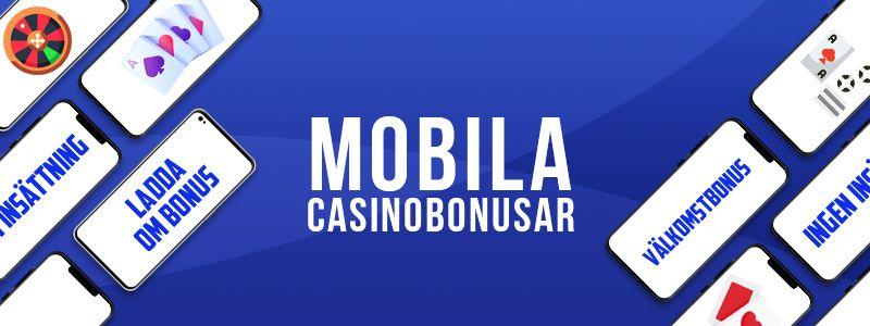 Bästa mobil casino bonusar