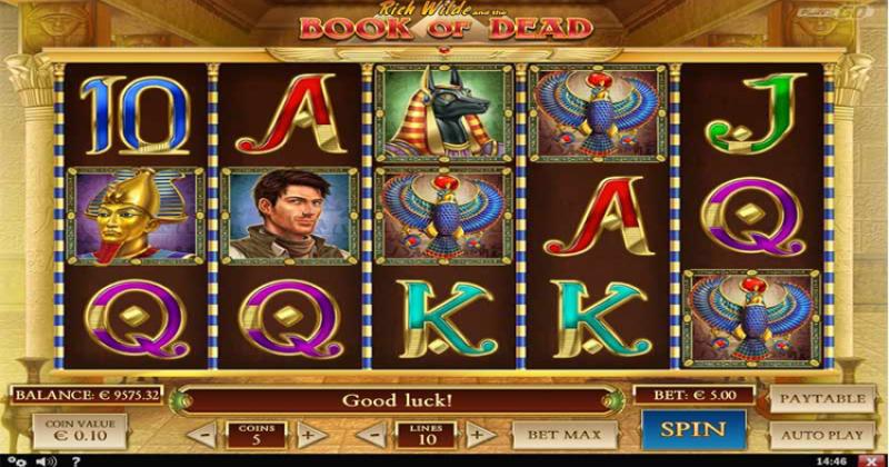 Spela på Book of dead videoslot från Play'n Go spelautomat gratis nu   Casino Sverige