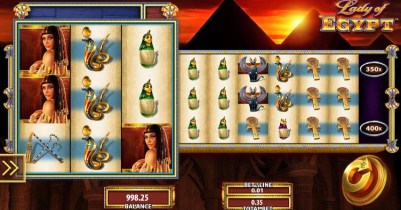 Spela på Lady of Egypt från WMS spelautomat gratis nu | Casino Sverige