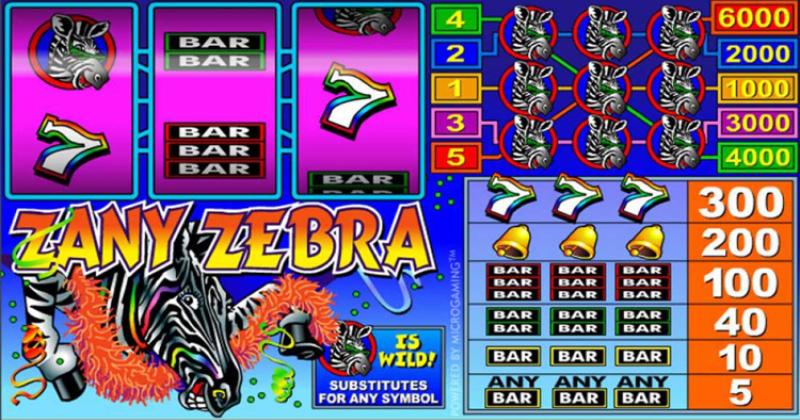 Spela på Zany Zebra från Microgaming spelautomat gratis nu | Casino Sverige