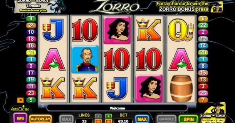 Spela på Zorro Slot Online Från AristoCrat spelautomat gratis nu   Casino Sverige
