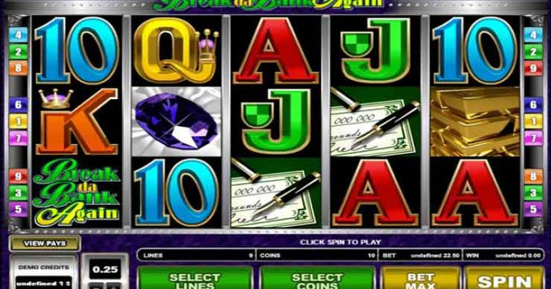 Spela på Break Da Bank Again onlineslot från Microgaming spelautomat gratis nu   Casino Sverige