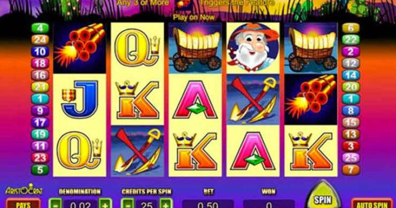 Spela på Where´s the Gold onlineslot från Aristocrat spelautomat gratis nu   Casino Sverige